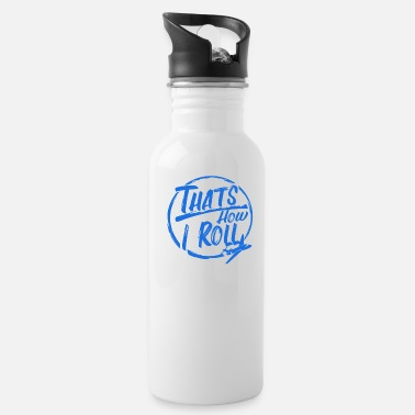 Traffic Awesome Pilot Gift How I Roll Flying Airplane - Water Bottle