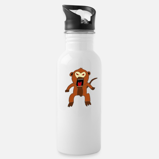 Gift Idea Mugs & Drinkware - Bad Monkey - Water Bottle white