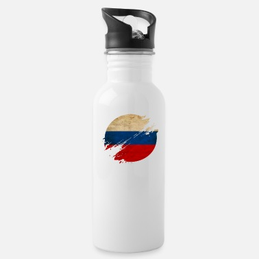 Russian Circles Russia Vintage Circle / Flag - Water Bottle
