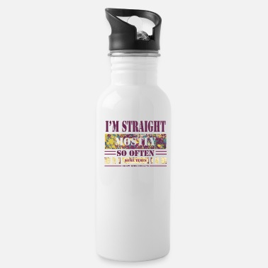 Bisexual Straight gay bisexual saying humor funny - Water Bottle