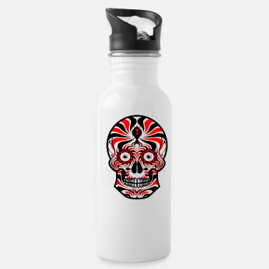Sugar Skull of Death. Tribal Skull. Tribals Tattoo - Water Bottle