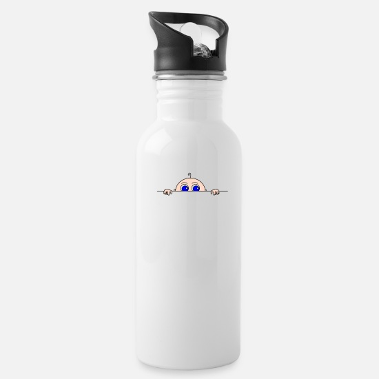 Pregnancy Mugs & Drinkware - Baby Peeking Maternity - Water Bottle white