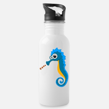 Sea Horse Sea Horse on the Sea - Water Bottle