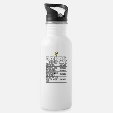 Funny Electrician Electrician Hourly Rate Funny Electrician - Water Bottle