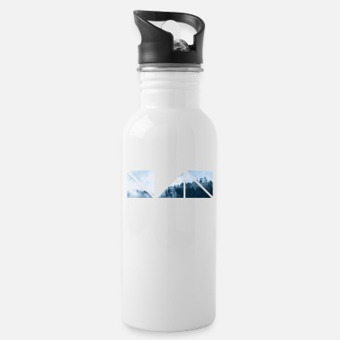 Geometric Geometric Forest - Water Bottle