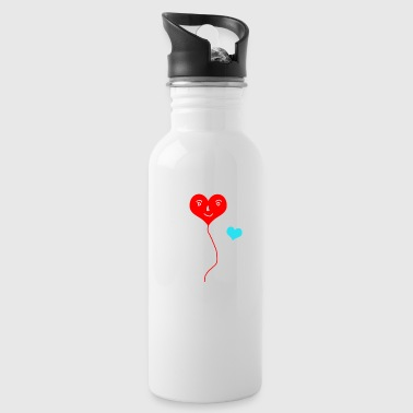 Red and blue hearts - Water Bottle