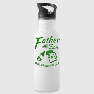 Father And Son Matching St Paticks Day - Water Bottle