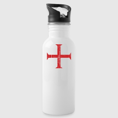 Knights Templar Crusader Cross - Water Bottle