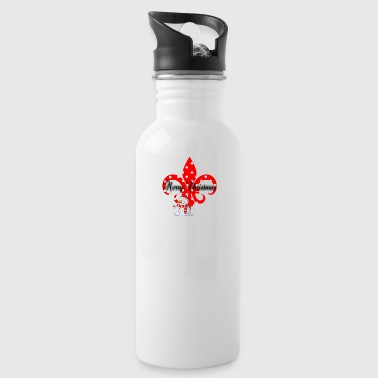 Christmas Fleur De Lis - Water Bottle