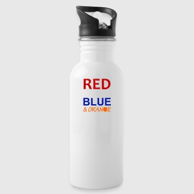 Red White Blue and Orange - Water Bottle