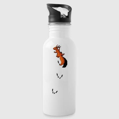 squirrel climbing up your back animal tracks tree - Water Bottle