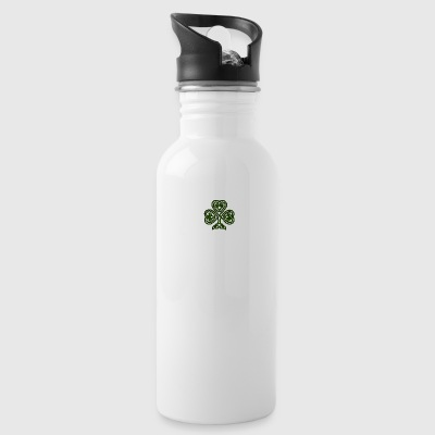 celtic shamrock - Water Bottle