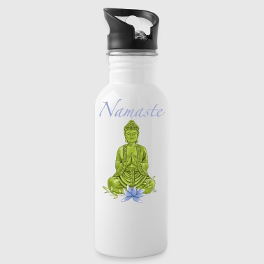Bouddha with blue lotus blossom - Water Bottle