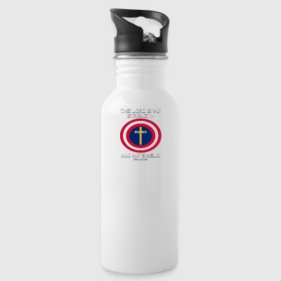 STRENGTH AND SHIELD PSALM - Water Bottle