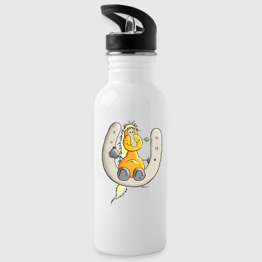 Cute Horse - Happiness - Horseshoe - Water Bottle