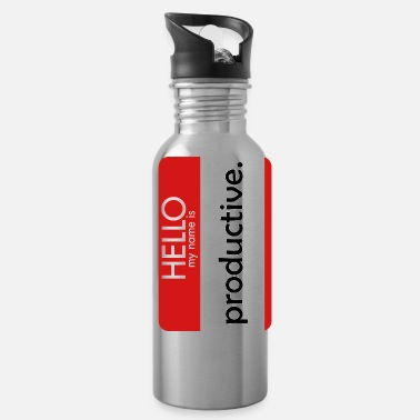 Hello-my-name-is HELLO my name is productive - Water Bottle