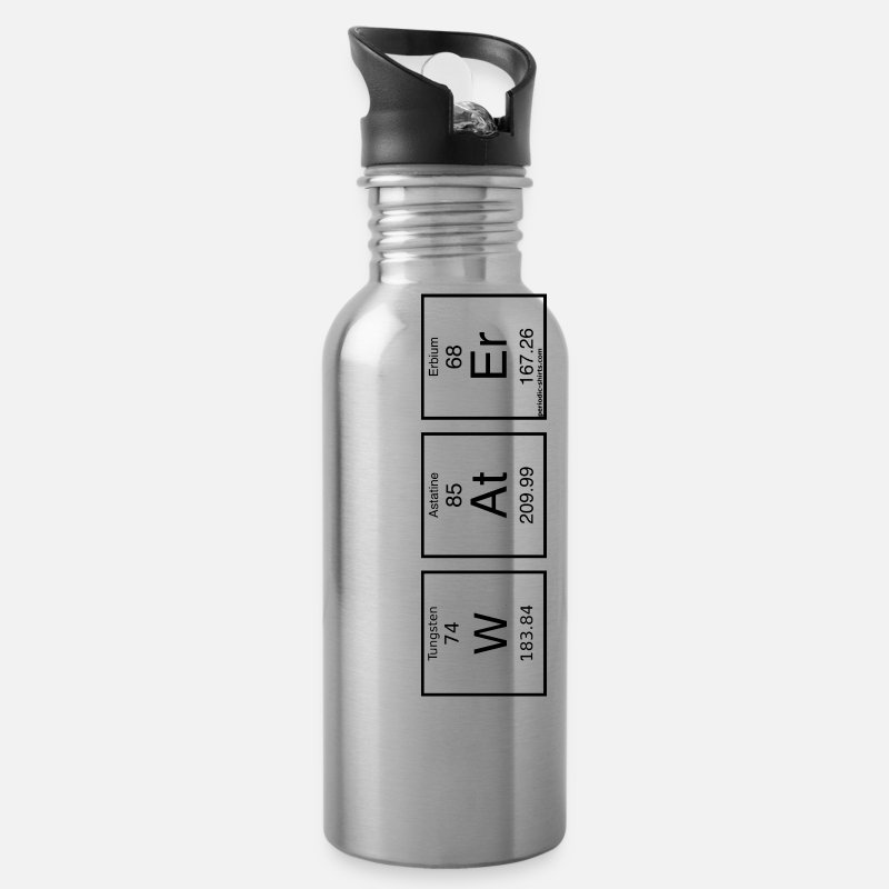 Table Mugs & Drinkware - Chemistry Water bottle - periodic table - Water Bottle silver
