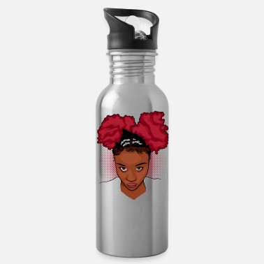 Curlygirl CurlyGirl Kinky Natural Hair Afro Puff T Shirt/Tee - Water Bottle