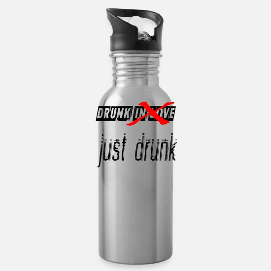 Trend Mugs & Drinkware - just drunk 2 - Water Bottle silver