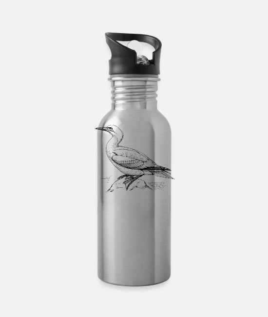 Animal Rights Activists Mugs & Drinkware - bird - Water Bottle silver
