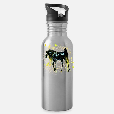 Color Yellow Love Horse - Water Bottle