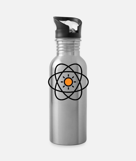 Nuclear Power Mugs & Cups - atom - Water Bottle silver