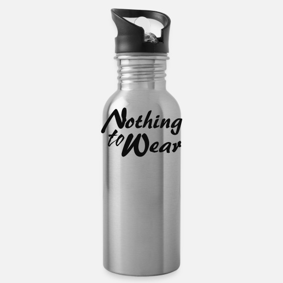 Movie Mugs & Drinkware - Nothing to wear - Water Bottle silver
