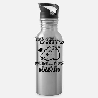 Guinea Pig Loves Her Guinea Pigs And Her Husband Mug - Water Bottle