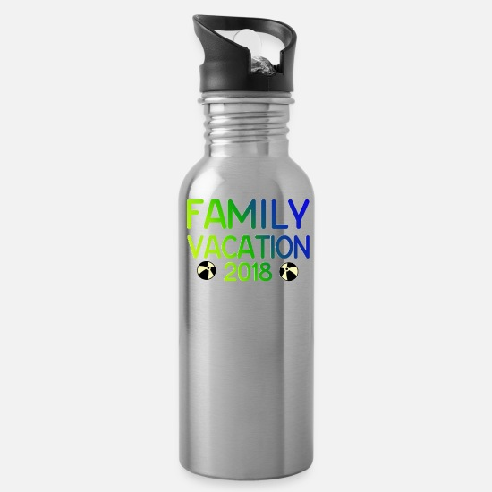 Vacation Mugs & Drinkware - Family Vacation Gifts for Families - Water Bottle silver