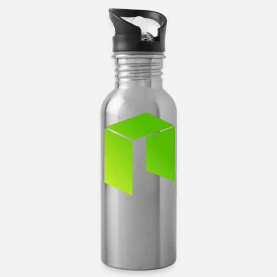 Crypto T-shirt Mugs & Drinkware - NEO ANTSHARES. Cryptocurrency NEO t-shirt NEO COIN - Water Bottle silver