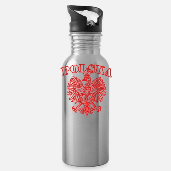 Polska Mugs & Drinkware - Polska - Water Bottle silver