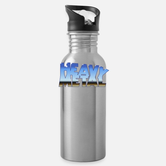 Music Mugs & Drinkware - HEAVY METAL - Water Bottle silver