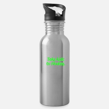 Hockey Funny Mom or Dad of Ice & Field Hockey Gift Eat Sleep Take Kids to Hockey Repeat - Water Bottle