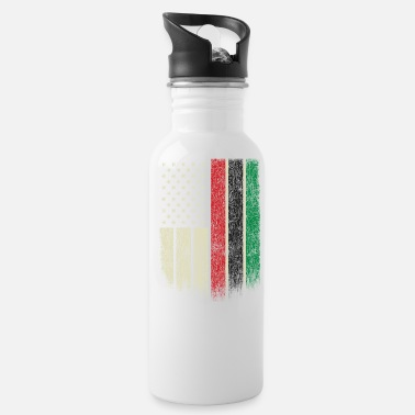 African African American Flag Pan African UNIA Flag - Water Bottle