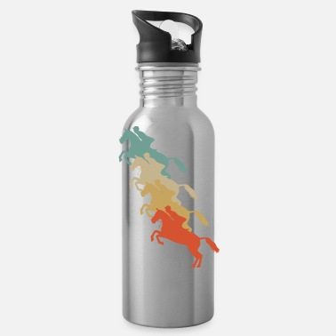 Equitation Retro Vintage Style Harness Racing Equitation - Water Bottle