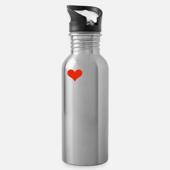 Morocco Mugs & Drinkware - I Love my hot Moroccan Girlfriend Valentine's Day Morocco - Water Bottle silver