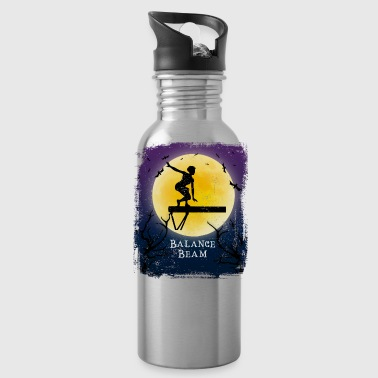 Gymnast Balance Beam Halloween Vintage Art Gymnastics - Water Bottle
