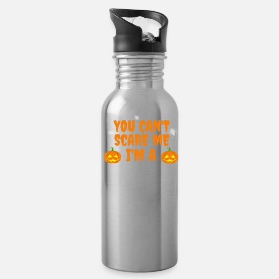 Career Mugs & Drinkware - Can't scare me I'm a contract lawyer Halloween - Water Bottle silver