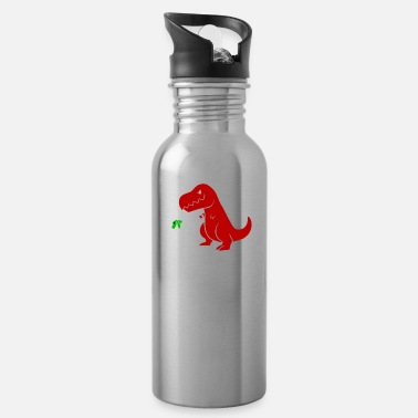 Am Cute & Funny I Am Unstoppable TRex Dinosaur Pun - Water Bottle
