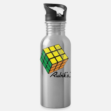 Cube Rubik's Cube Solved Colourful Vintage - Water Bottle