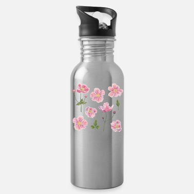 Japanese Japanese Anemone Flowers - Water Bottle