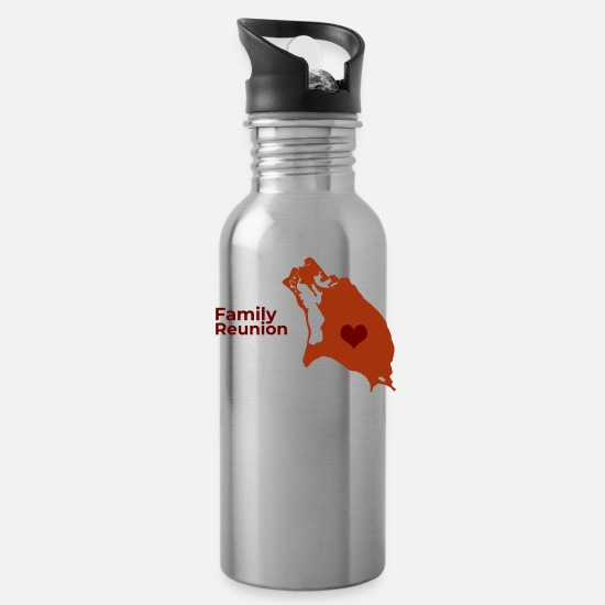 Family Mugs & Drinkware - Barbuda Family Reunion 2019 - Water Bottle silver