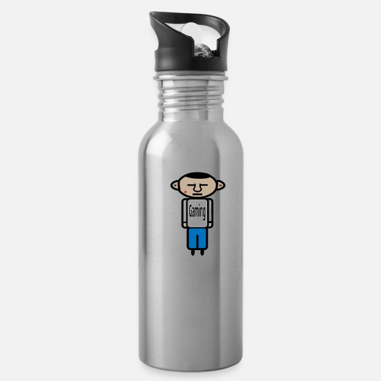 Play Mugs & Drinkware - Grimm Assassin9 Lil man Gaming - Water Bottle silver