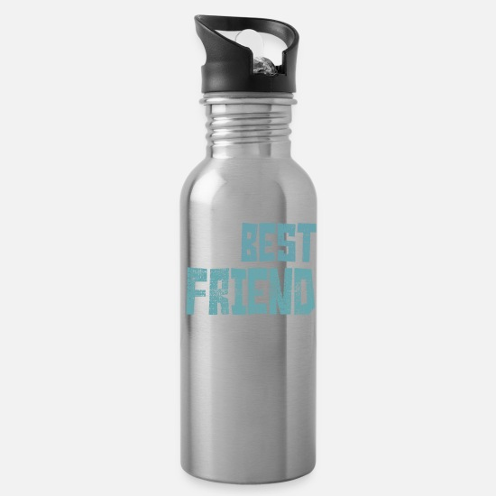 Friends Mugs & Drinkware - best friend - Water Bottle silver