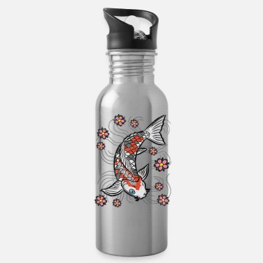 Pond Koi fish carp pond - Water Bottle