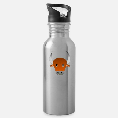 angry bull - Water Bottle