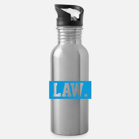 Student Mugs & Drinkware - Law student - Water Bottle silver