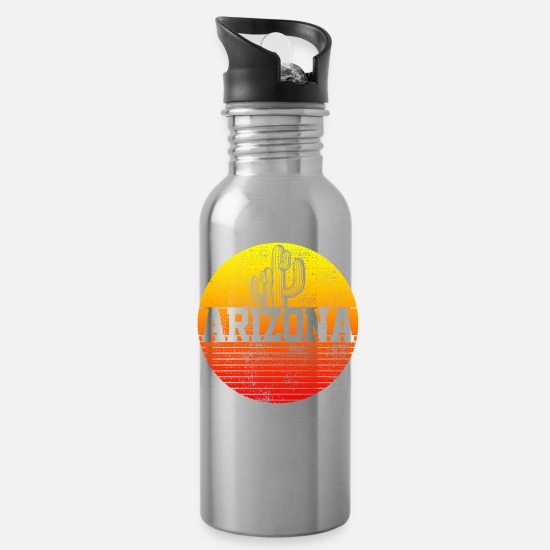 Tourist Mugs & Drinkware - Arizona Cactus - Water Bottle silver