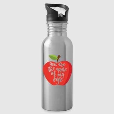 Fruit Apple Eye Love Romantic Lovely Gift Idea - Water Bottle