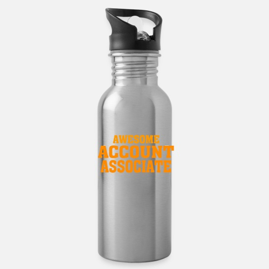 ACCOUNT ASSOCIATE Funny Gift Mugs & Drinkware - This is what an awesome ACCOUNT ASSOCIATE look li - Water Bottle silver
